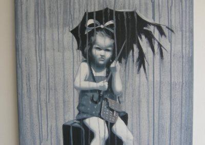 Pige i regn