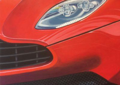 Detalj rød bil