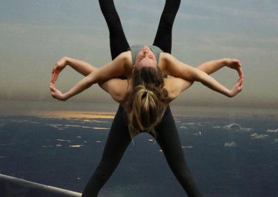 akrobater på flyg